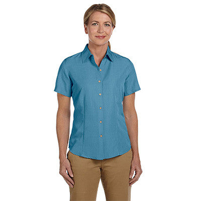 Harriton Ladies Barbados Textured Camp Shirt - EZ Corporate Clothing  - 3