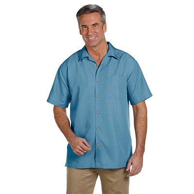 Harriton Mens Barbados Textured Camp Shirt - EZ Corporate Clothing  - 3
