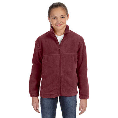Harriton Youth 8oz. Full-Zip Fleece - EZ Corporate Clothing  - 10
