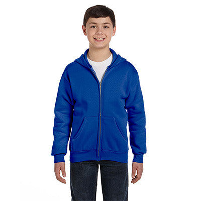 Hanes Youth Comfortblend Ecosmart Full-Zip Hoodie - EZ Corporate Clothing  - 8