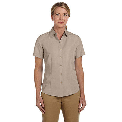Harriton Ladies Barbados Textured Camp Shirt - EZ Corporate Clothing  - 5