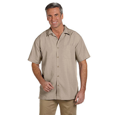 Harriton Mens Barbados Textured Camp Shirt - EZ Corporate Clothing  - 5