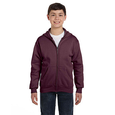 Hanes Youth Comfortblend Ecosmart Full-Zip Hoodie - EZ Corporate Clothing  - 11