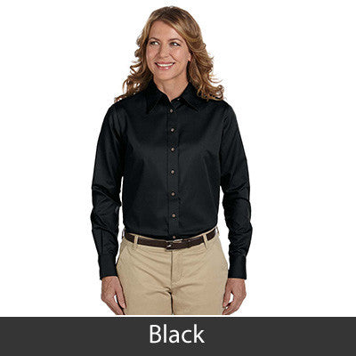 Harriton Ladies Long-Sleeve Twill Shirt With Stain-Release - EZ Corporate Clothing  - 3