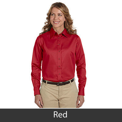 Harriton Ladies Long-Sleeve Twill Shirt With Stain-Release - EZ Corporate Clothing  - 13