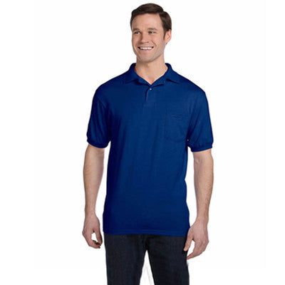 Hanes 5.5oz, 50/50 Jersey Knit Polo - EZ Corporate Clothing  - 18
