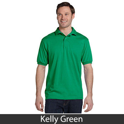 Hanes Adult Comfortblend Ecosmart Jersey Polo - Printed - EZ Corporate Clothing  - 9