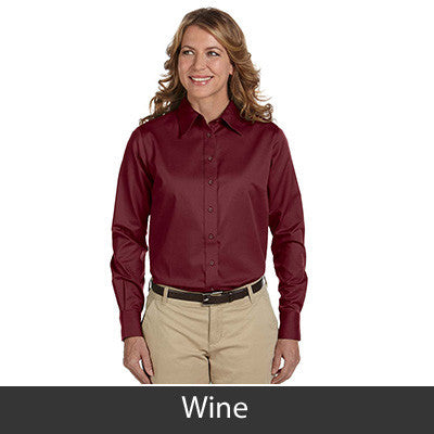 Harriton Ladies Long-Sleeve Twill Shirt With Stain-Release - EZ Corporate Clothing  - 18