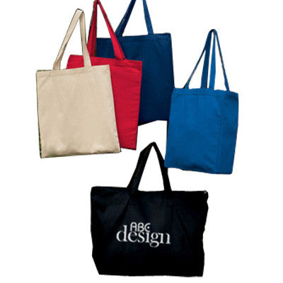 UltraClub Zippered Tote With Gusset