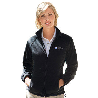 Harriton Ladies 8oz. Full-Zip Fleece - EZ Corporate Clothing  - 1