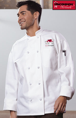 Classic Knot Chef Coat with Mesh - Zinburger