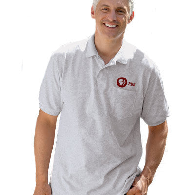 Hanes 5.5oz, 50/50 Jersey Pocket Polo