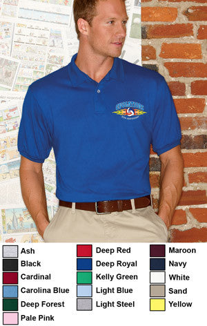 Hanes 5.5oz, 50/50 Jersey Knit Polo - EZ Corporate Clothing  - 2