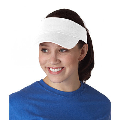Anvil Three-panel Solid-color Twill Visor - EZ Corporate Clothing  - 6