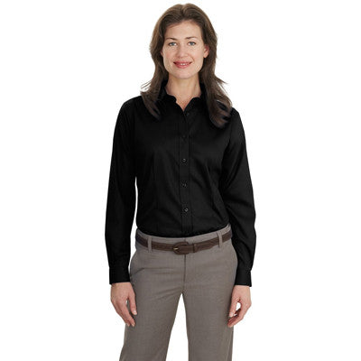 Port Authority Ladies Long-Sleeve Non-Iron Twill Shirt - EZ Corporate Clothing  - 2