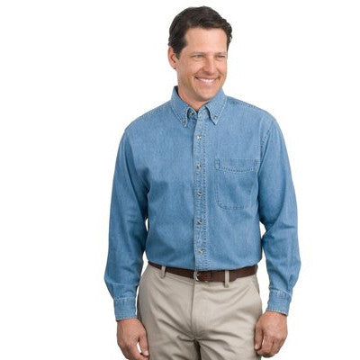 Port Authority Denim Shirt - Longsleeve - EZ Corporate Clothing  - 2