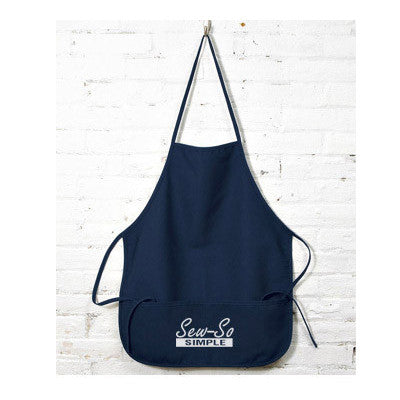 UltraClub Large Two-Pocket Bib Apron