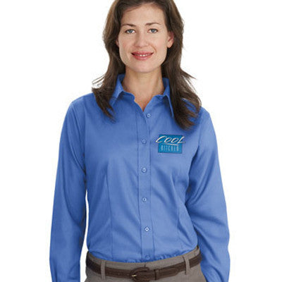 Port Authority Ladies Long-Sleeve Non-Iron Twill Shirt