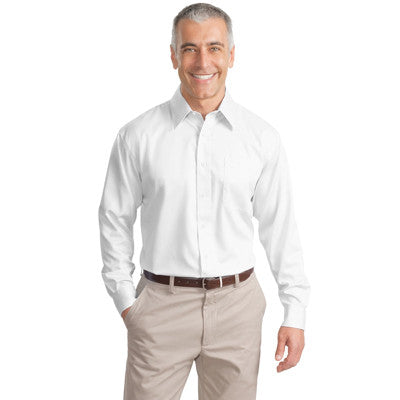 Port Authority Long-Sleeve Non-Iron Twill Shirt - EZ Corporate Clothing  - 7