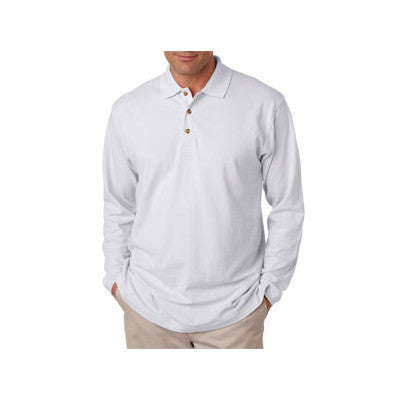 UltraClub Long-Sleeve Classic Pique Polo - EZ Corporate Clothing  - 11