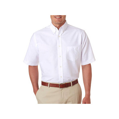 UltraClub Mens Classic Wrinkle-Free Short-Sleeve Oxford - EZ Corporate Clothing  - 9