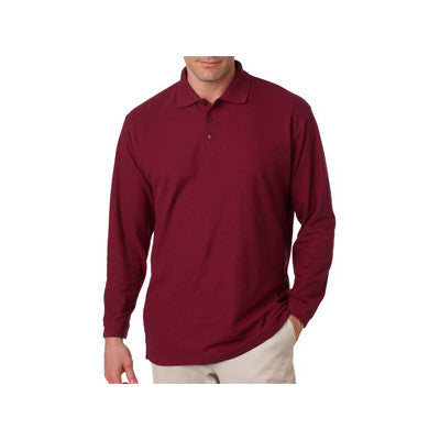 UltraClub Long-Sleeve Whisper Pique Polo - EZ Corporate Clothing  - 8