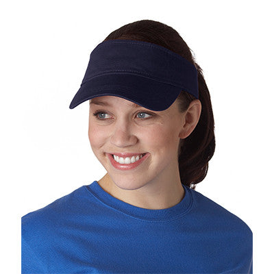 Anvil Three-panel Solid-color Twill Visor - EZ Corporate Clothing  - 3