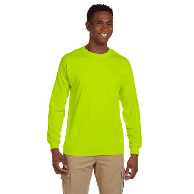 Gildan Adult Ultra Cotton Long-Sleeve Shirt With Pocket - EZ Corporate Clothing  - 7