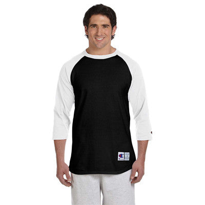 Champion 6.1oz. Tagless Raglan Baseball T-Shirt - EZ Corporate Clothing  - 3