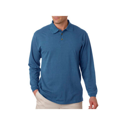UltraClub Long-Sleeve Classic Pique Polo - EZ Corporate Clothing  - 10
