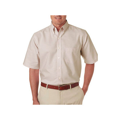 UltraClub Mens Classic Wrinkle-Free Short-Sleeve Oxford - EZ Corporate Clothing  - 8