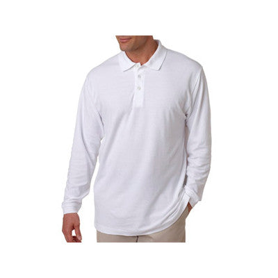 UltraClub Long-Sleeve Whisper Pique Polo - EZ Corporate Clothing  - 7