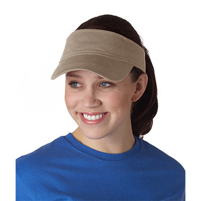 Anvil Three-panel Solid-color Twill Visor - EZ Corporate Clothing  - 5