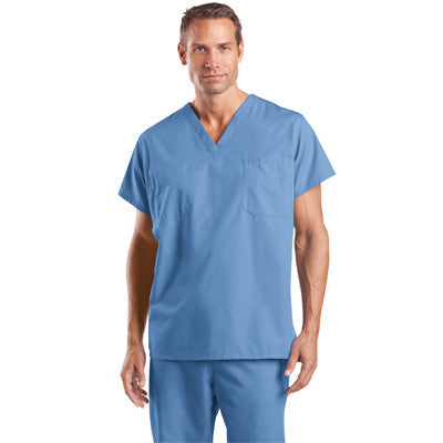 Cornerstone Reversible V-Neck Scrub Top - PRINTED - EZ Corporate Clothing  - 2