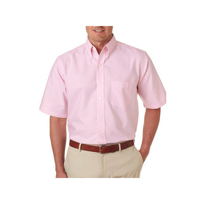 UltraClub Mens Classic Wrinkle-Free Short-Sleeve Oxford - EZ Corporate Clothing  - 7