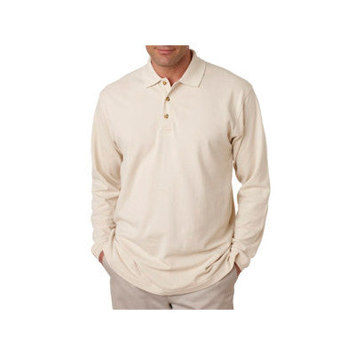 UltraClub Long-Sleeve Classic Pique Polo - EZ Corporate Clothing  - 9