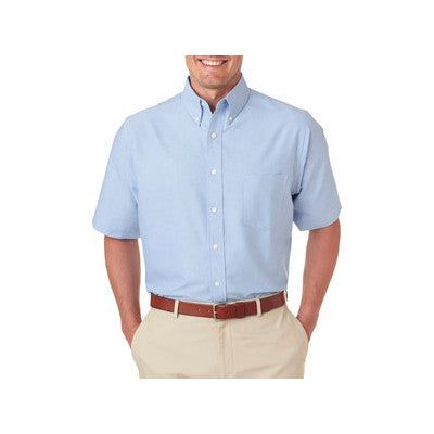 UltraClub Mens Classic Wrinkle-Free Short-Sleeve Oxford - EZ Corporate Clothing  - 6