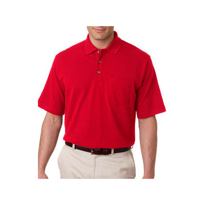 UltraClub Classic Pique Polo with Pocket - EZ Corporate Clothing  - 8
