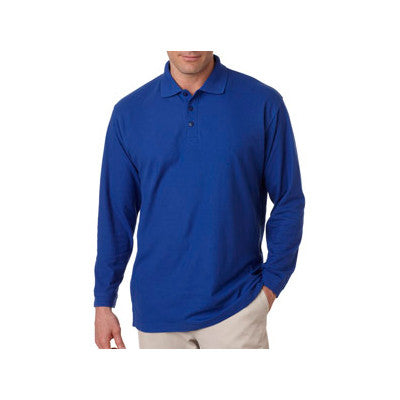 UltraClub Long-Sleeve Whisper Pique Polo - EZ Corporate Clothing  - 6