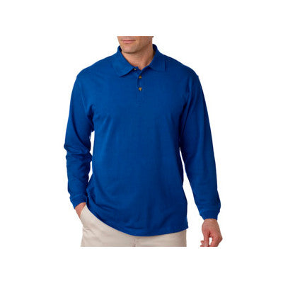 UltraClub Long-Sleeve Classic Pique Polo - EZ Corporate Clothing  - 8