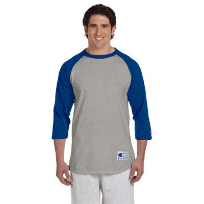Champion 6.1oz. Tagless Raglan Baseball T-Shirt - EZ Corporate Clothing  - 7