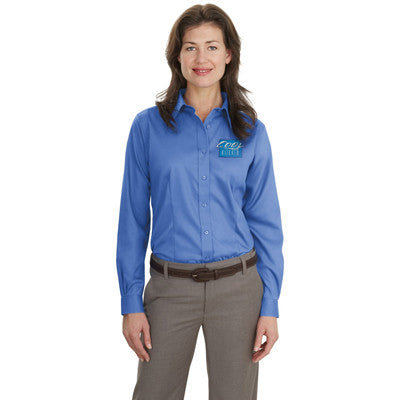 Port Authority Ladies Long-Sleeve Non-Iron Twill Shirt - EZ Corporate Clothing  - 6