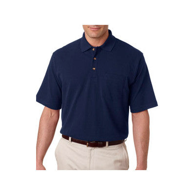 UltraClub Classic Pique Polo with Pocket - EZ Corporate Clothing  - 7