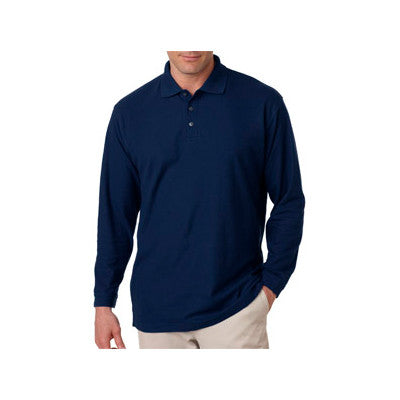 UltraClub Long-Sleeve Whisper Pique Polo - EZ Corporate Clothing  - 5