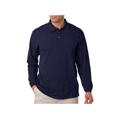 UltraClub Long-Sleeve Classic Pique Polo - EZ Corporate Clothing  - 7