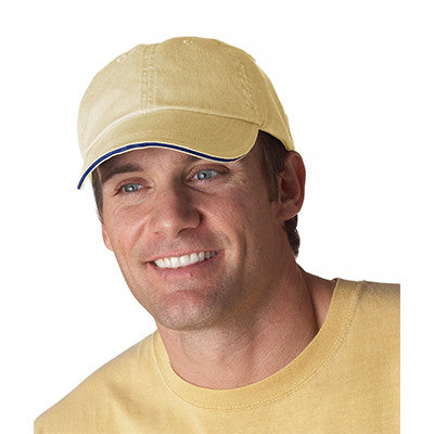 Anvil Solid Pigment-Dyed Twill Sandwich Cap - EZ Corporate Clothing  - 4