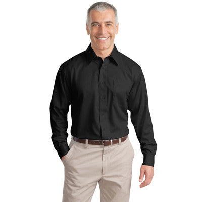 Port Authority Long-Sleeve Non-Iron Twill Shirt - EZ Corporate Clothing  - 2