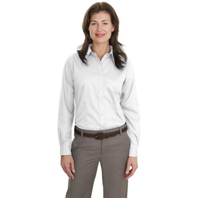 Port Authority Ladies Long-Sleeve Non-Iron Twill Shirt - EZ Corporate Clothing  - 7