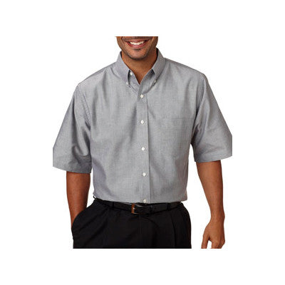 UltraClub Mens Classic Wrinkle-Free Short-Sleeve Oxford - EZ Corporate Clothing  - 4
