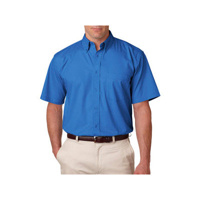UltraClub Short-Sleeve Whisper Twill Shirt - EZ Corporate Clothing  - 4